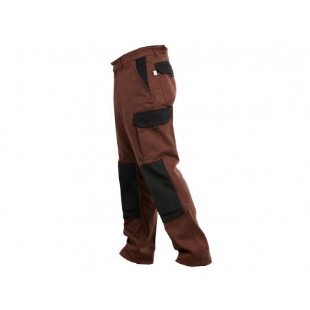 Pantalon de travail Typhon polycoton Chocolat/noir