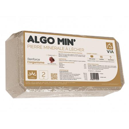 Pierre minérale à lécher Algo Min' VIA 2kg