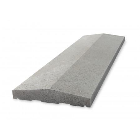 Chaperon double pente 100x25cm gris