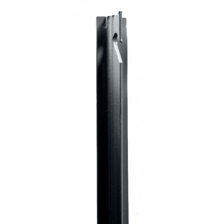 Poteau T plastifié gris 2m
