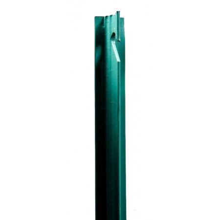 Poteau T plastifié vert 1,50m