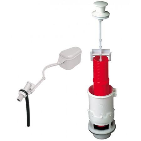 MX12 mécanisme de WC à tirette + robinet flotteur à levier