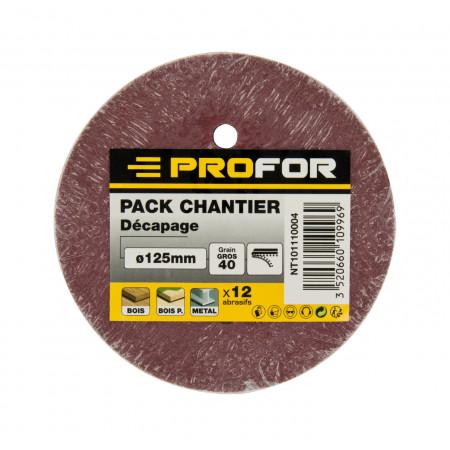 12 disques PEX Ø125mm grain 40 PROFOR