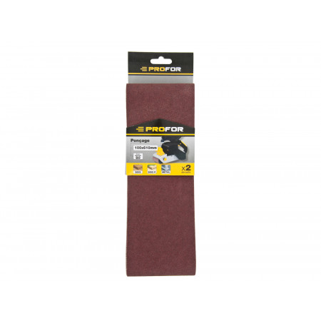 2 bandes abrasives 100x610mm grain 120 PROFOR