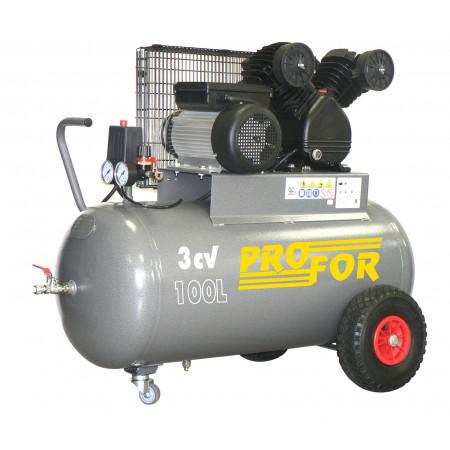 Compresseur à courroie bi-cylindre 100L 3 cv