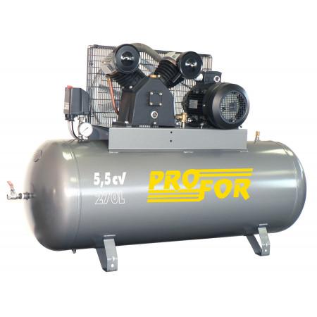Compresseur à courroie bi-cylindre 270L 5,5 cv