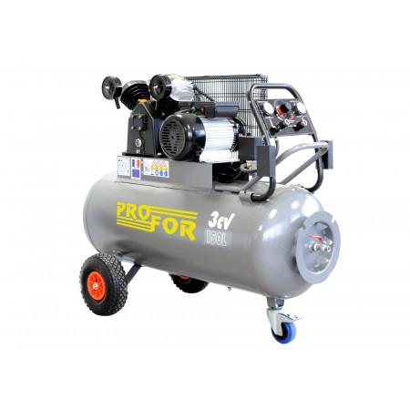 Compresseur à courroie bi-cylindre triphasé 150L 3 cv