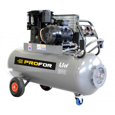 Compresseur à courroie tri-cylindre 200L 5,5 cv