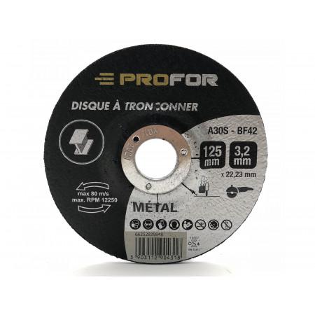 Disque à tronçonner acier Ø125 x 3mm PROFOR