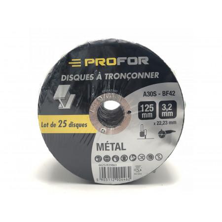 Disque à tronçonner acier Ø125 x 3mm PROFOR X25