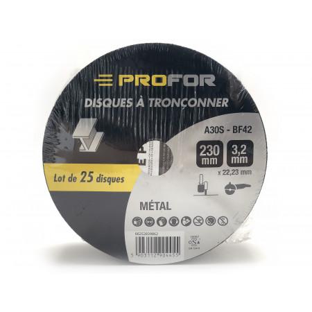 Disque à tronçonner acier Ø230 x 3mm PROFOR X25