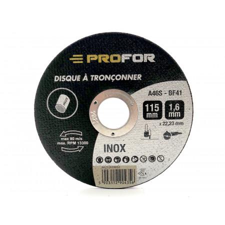 Disque à tronçonner inox Ø115 x 1,6mm PROFOR