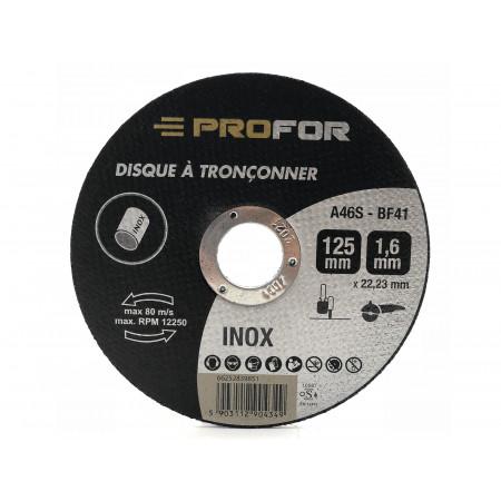 Disque à tronçonner inox Ø125 x 1,6mm PROFOR