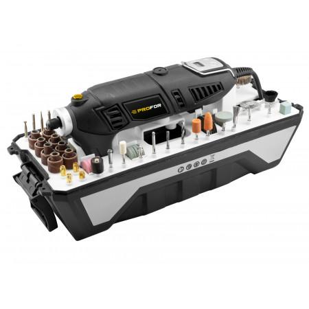 Mini-outil rotatif 170W + 190 accessoires PROFOR