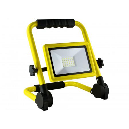 Projecteur Led pliable 30W 2700lm 4000K IP65 jaune