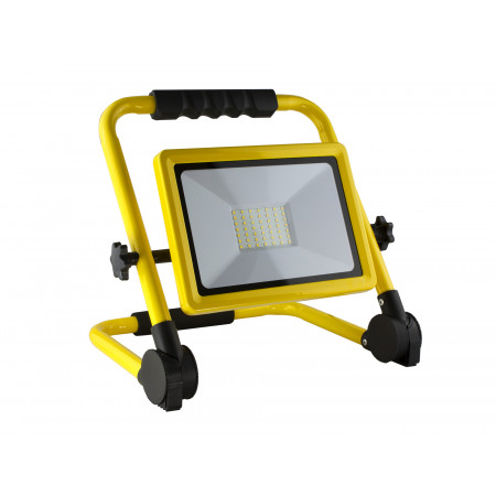 Projecteur Led pliable 50W 4500lm 4000K IP65 jaune