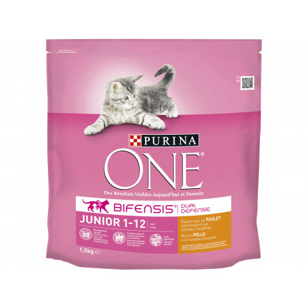 Croquettes chat junior PURINA ONE 1,5kg