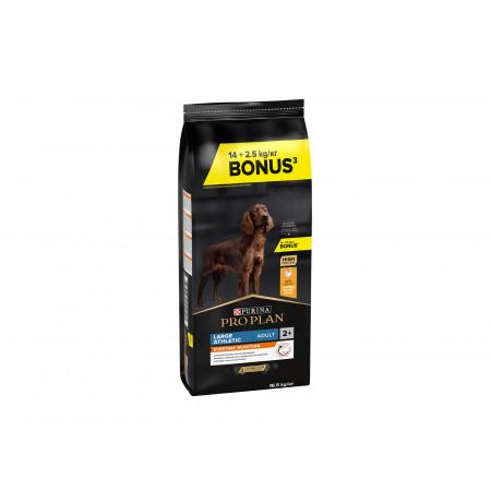 Croquettes chien Adult Athletic PRO PLAN 14+2,5kg OFFERTS