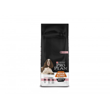 Croquettes chien medium adulte +7ans Sensitive skin PROPLAN 14kg