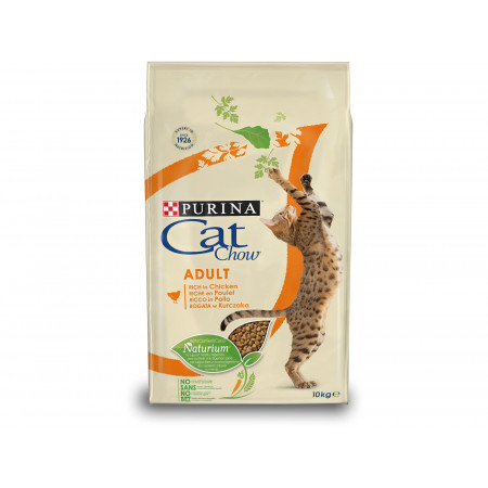 Croquettes chat adulte PURINA CAT CHOW poulet 10kg