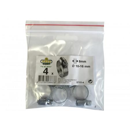 Collier de serrage 8mm 10-16 mm X4
