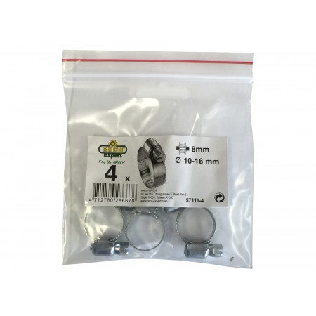 Collier de serrage 8mm 14-24 mm X4