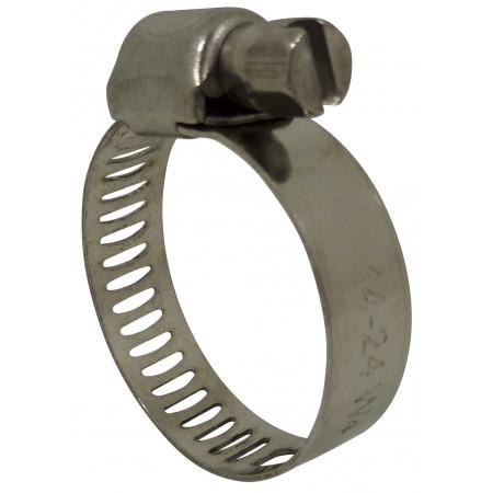Collier de serrage Inox 8mm 10-28 X8