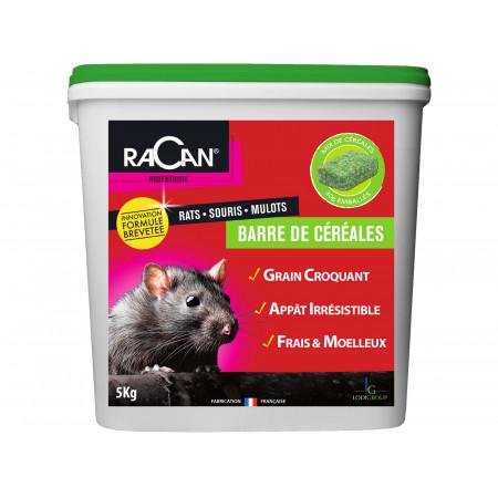 Raticide barre de céréales 5kg RACAN - RESERVE AUX PROFESSIONNELS