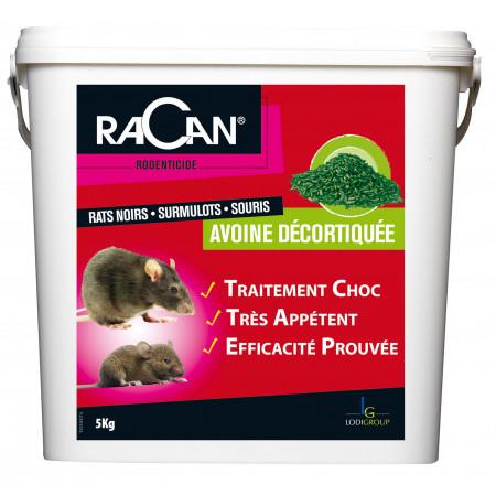 Raticide et souricide avoine 5kg - USAGE RESERVÉ AUX PROFESSIONNEL