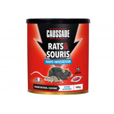 Raticide Pat'Appât rats et souris 15x10g