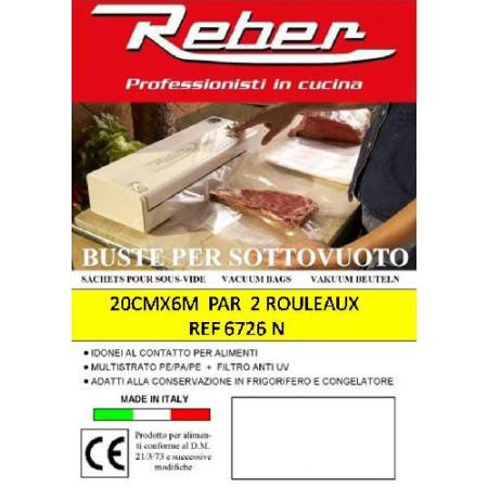Rouleau pour machine sous vide L6m x l20cm x2