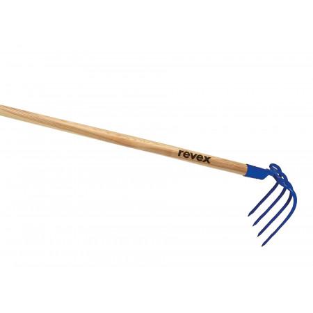 Croc à fumier à douille 4 dents 20 cm sans manche REVEX