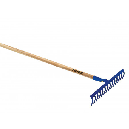 Râteau douille forgée 14 dents courbes sans manche REVEX