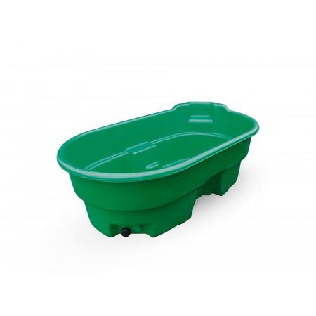 Bac de pâturage ovale vert de 900 L