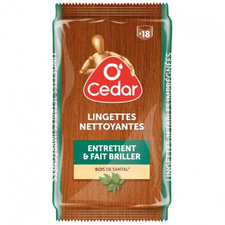 Lingettes nettoyantes bois x18 O'CEDAR