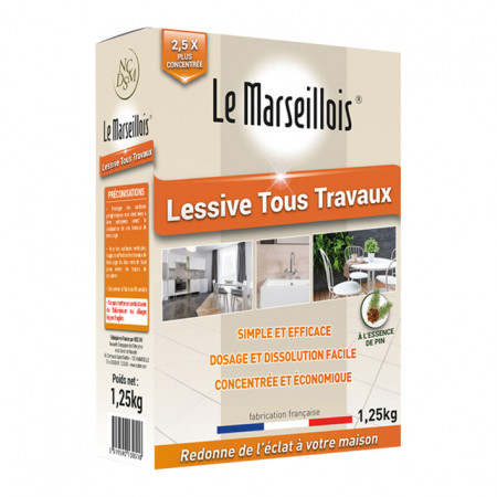 Lessive tous travaux au pin 1,25kg LE MARSEILLOIS