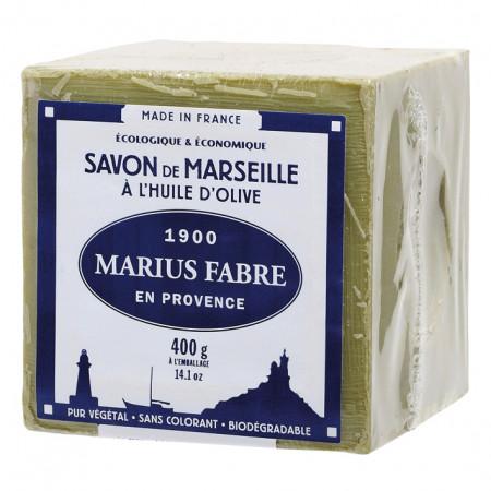 Savon de Marseille à l'huile d'olive 400g MARIUS FABRE