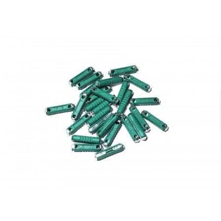 10 Fusibles en porcelaine verts de 10A