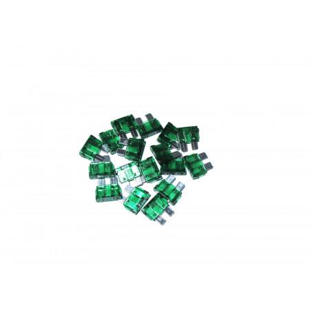10 Fusibles lamellaire verts de 30A