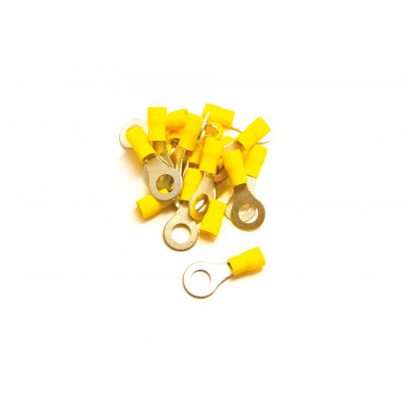 15 Cosses à oeil de 4 à 6mm jaunes