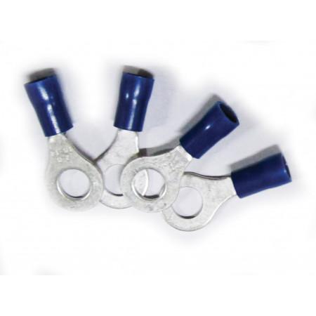 15 Cosses à oeil de 6 à 10mm bleues