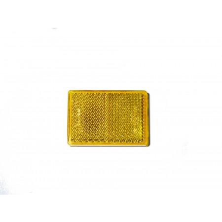 2 Catadioptres rectangles adhésifs oranges