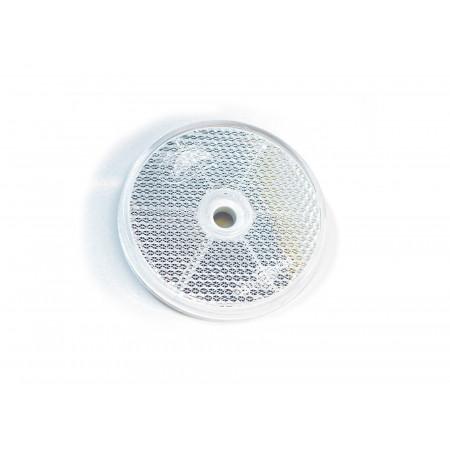 2 Catadioptres ronds adhésifs blancs