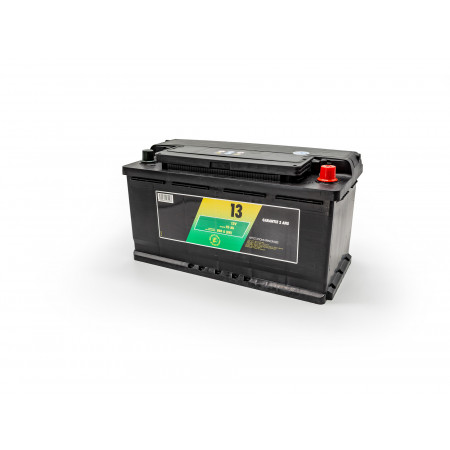 Batterie 12V N°13 Sélection Emeraude 95Ah 800A +D