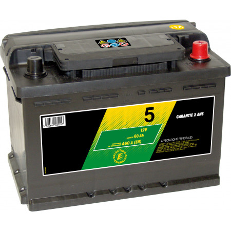 Batterie 12V N°5 Sélection Emeraude 41Ah 370A +D