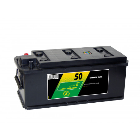 Batterie 12V N°50 Sélection Emeraude 135AH/1000A