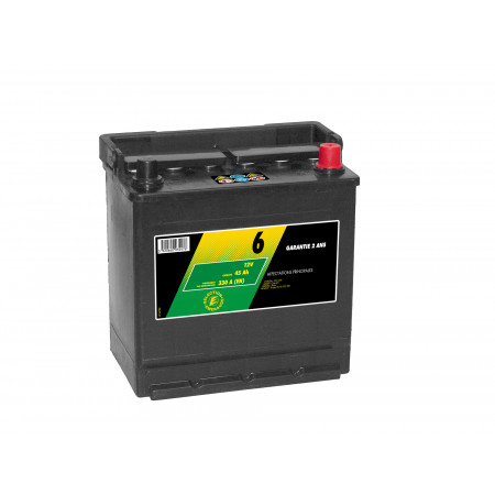 Batterie 12V N°6 Sélection Emeraude 45Ah 330A +G