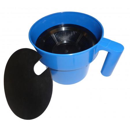 Bol de traite plastique bleu