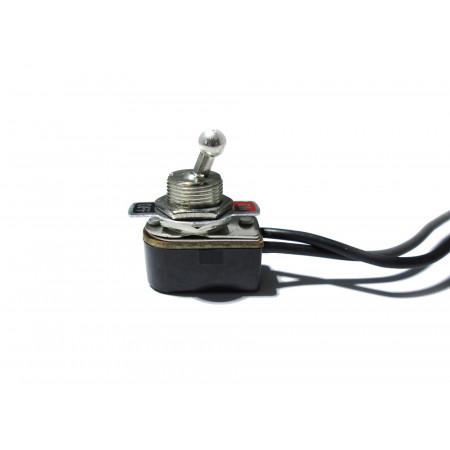 Interrupteur 16A métal 2 positions pré-câblé court