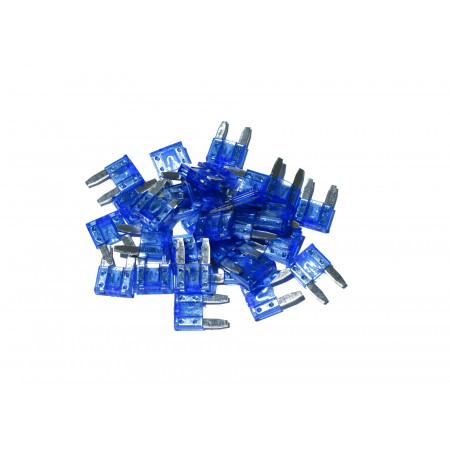 Lot de 10 Mini fusibles bleu 15A